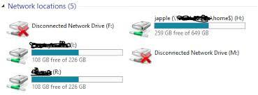 Netzlaufwerke deaktivieren